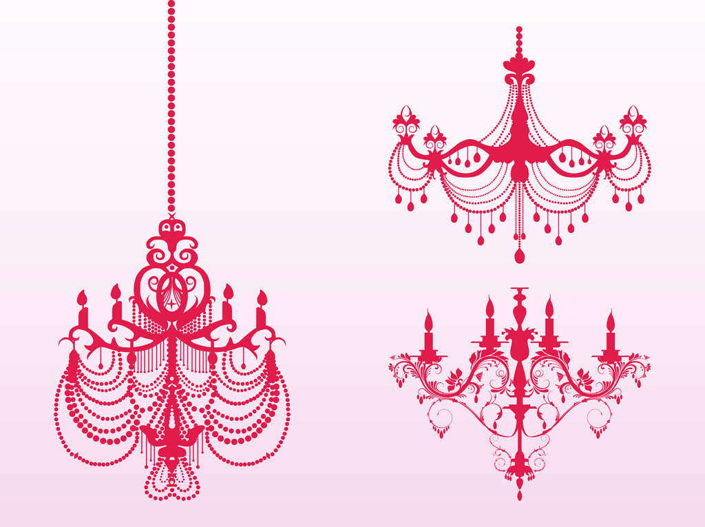 Antique Chandeliers Silhouettes Vector Art Amp Graphics