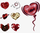 Grunge Hearts Graphics