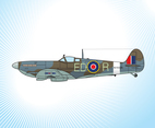 Spitfire Fighter Plane Vector