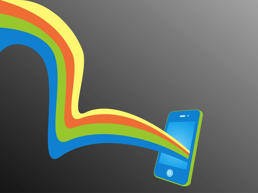 Rainbow iPhone