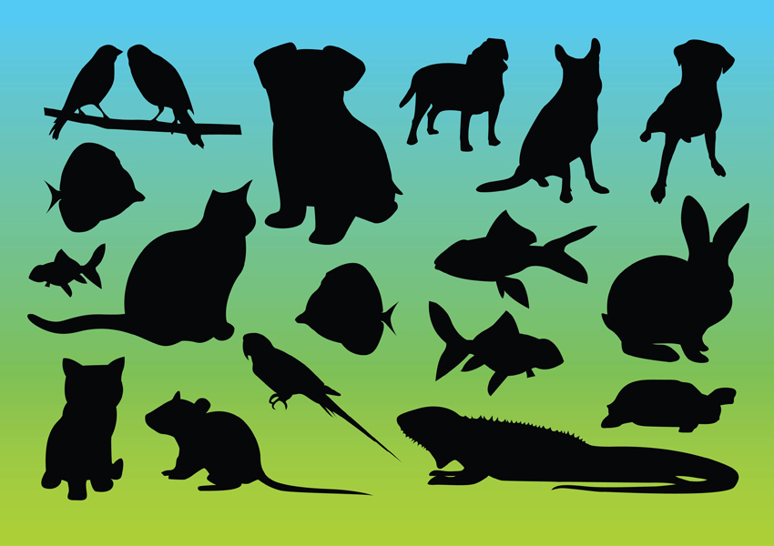 silhouettes of animals. Animal Silhouettes Vectors