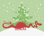 Vector Christmas Dragon