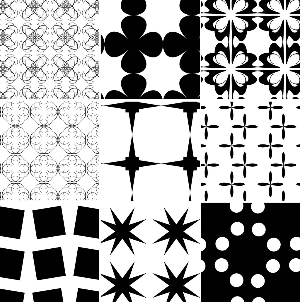 Black and White Illustrator Patterns