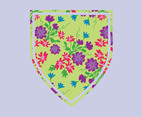 Floral Shield Vector