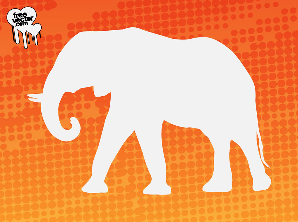 Elephant Silhouette Graphics
