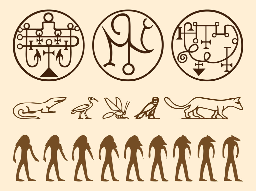 Egyptian Symbols Graphics