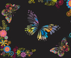 Butterflies And Flowers Background