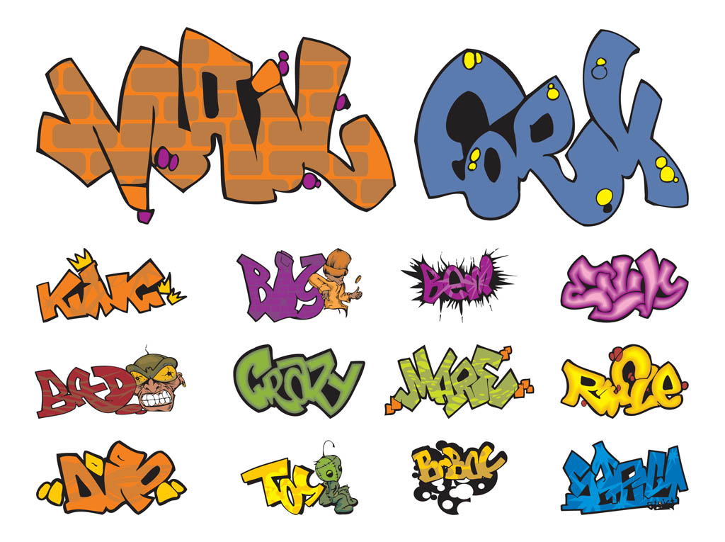 Graffiti Pieces Vectors