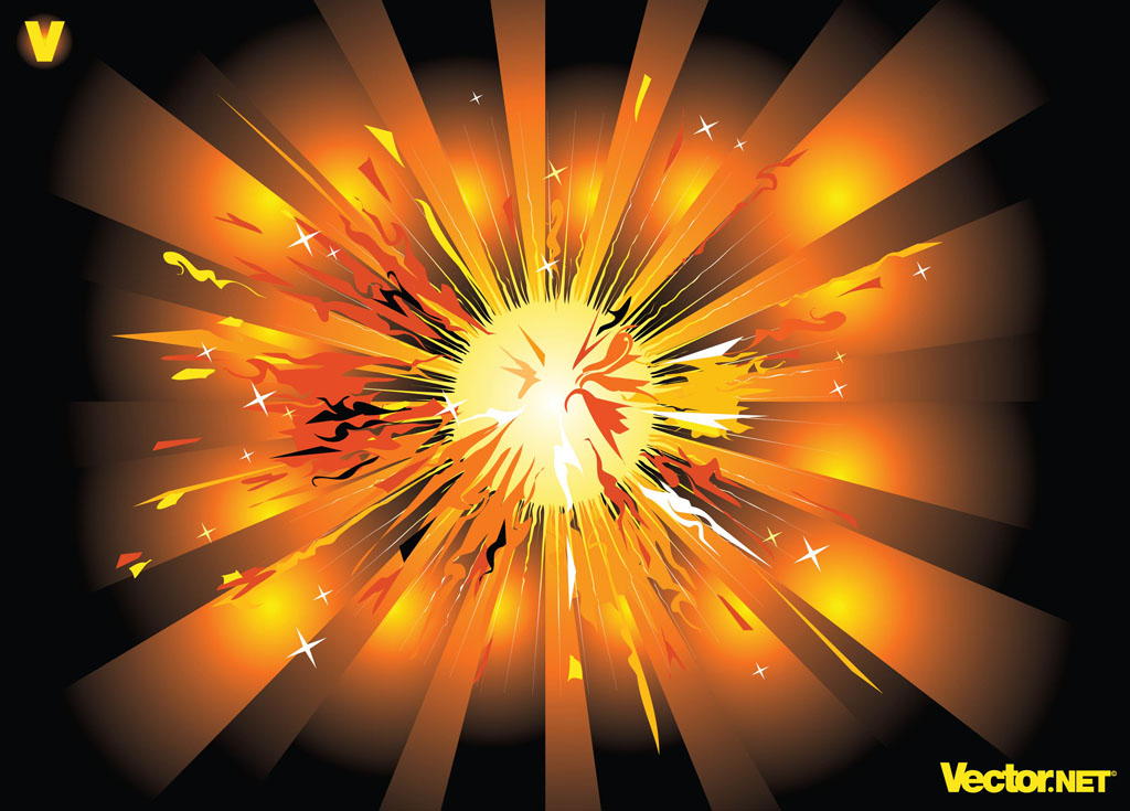 Calendar Maker Art Explosion : Starburst vector art graphics freevector