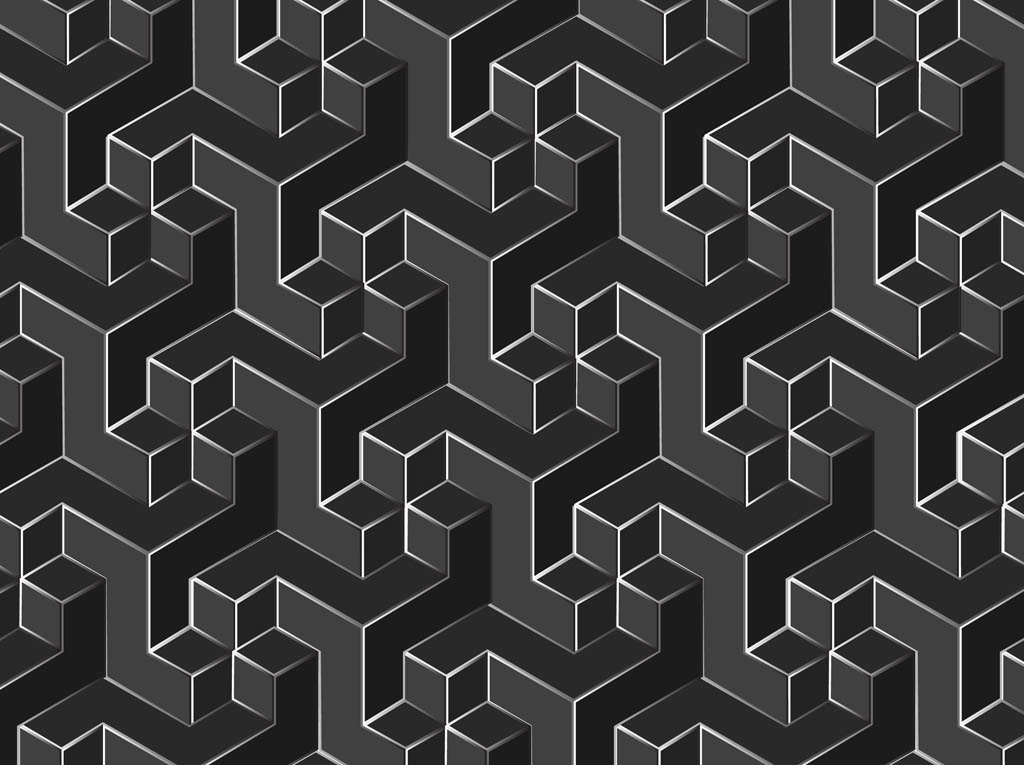 Geometric vector pattern Geometric patterns