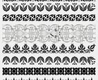 Black and White Lace Border Vectors