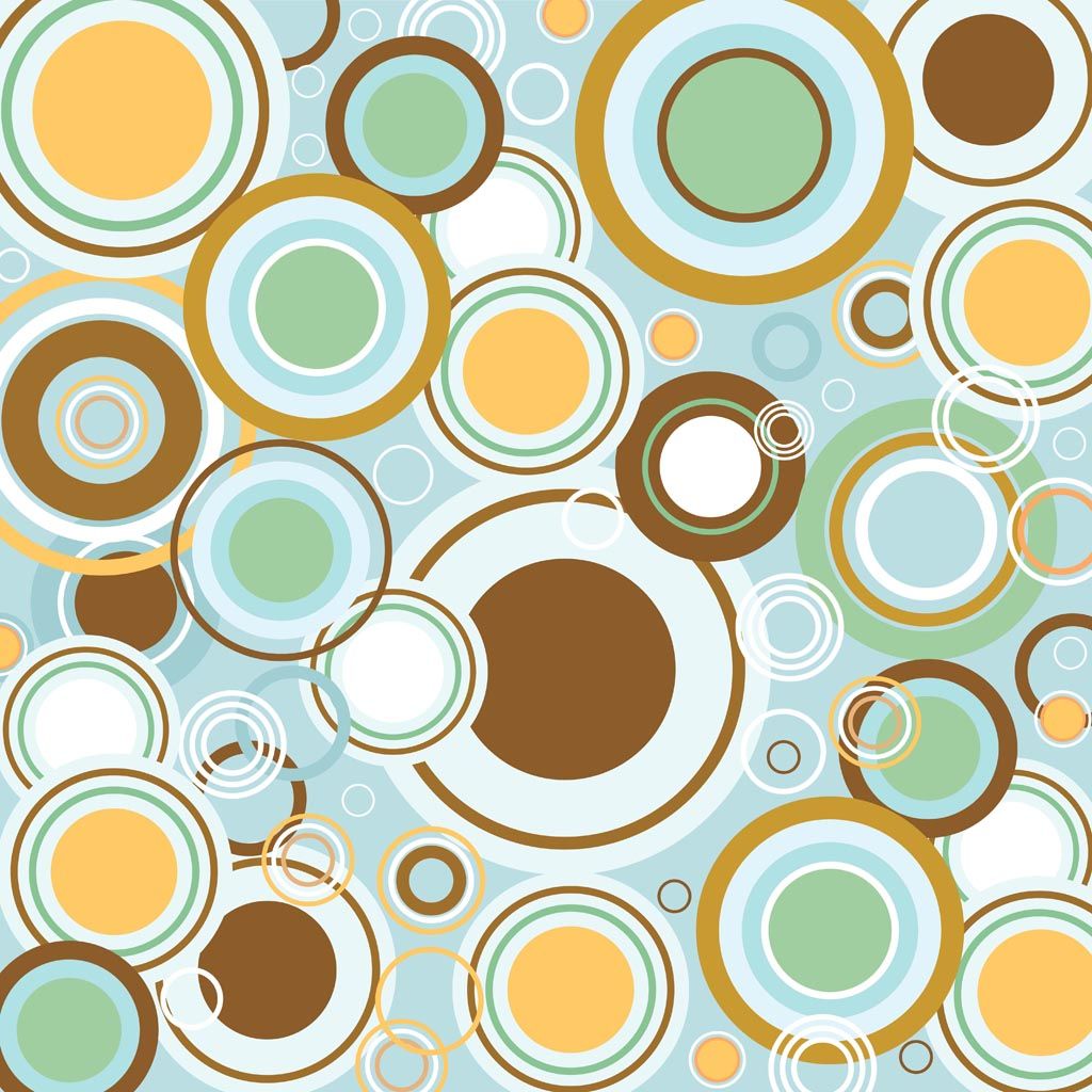 Retro Circles Vector Pattern