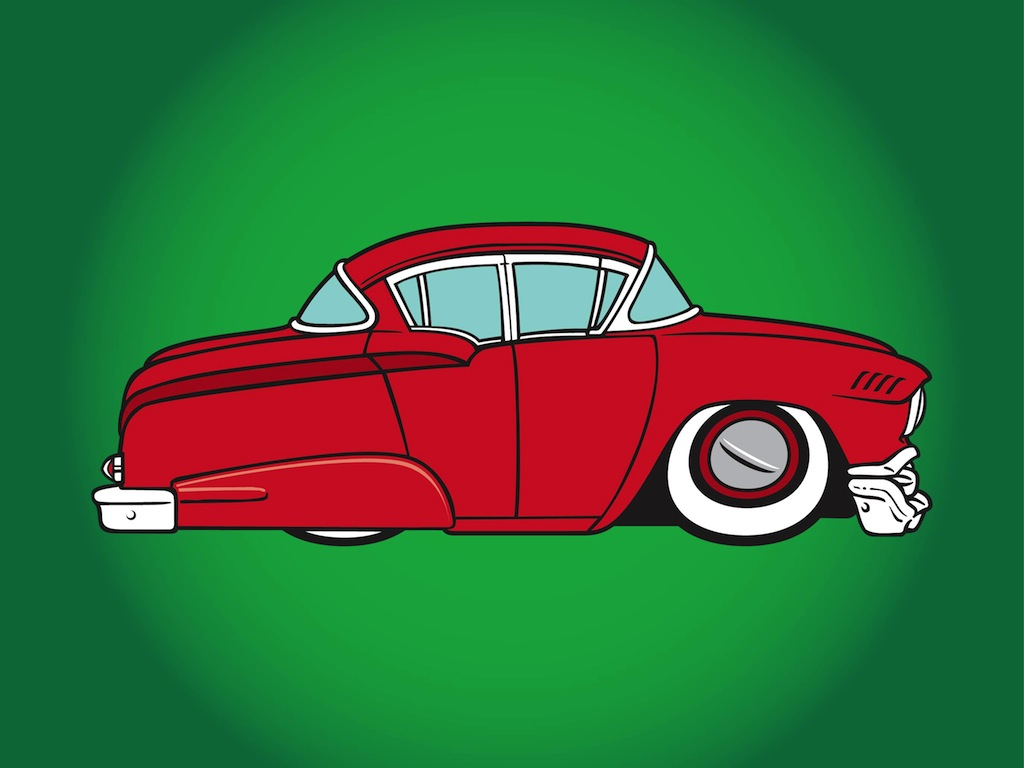 old car vector art graphics