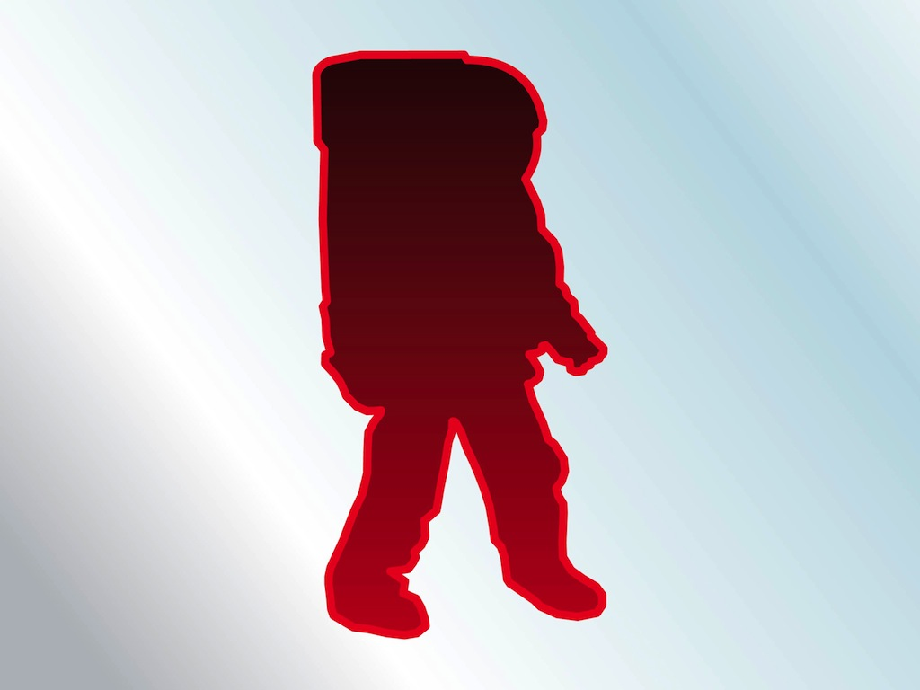Space Suit Silhouette Vector Art & Graphics