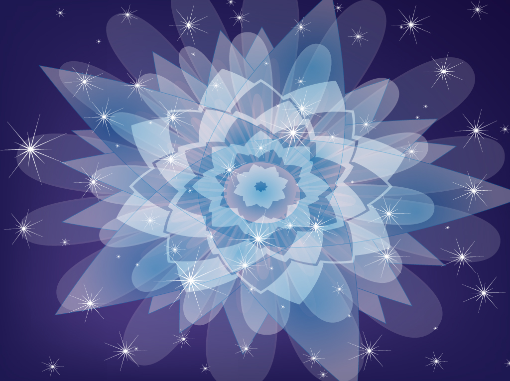 Purple Kaleidoscope Vector