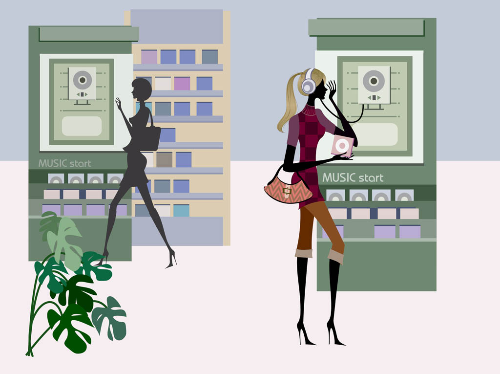Shopping Women Graphics
