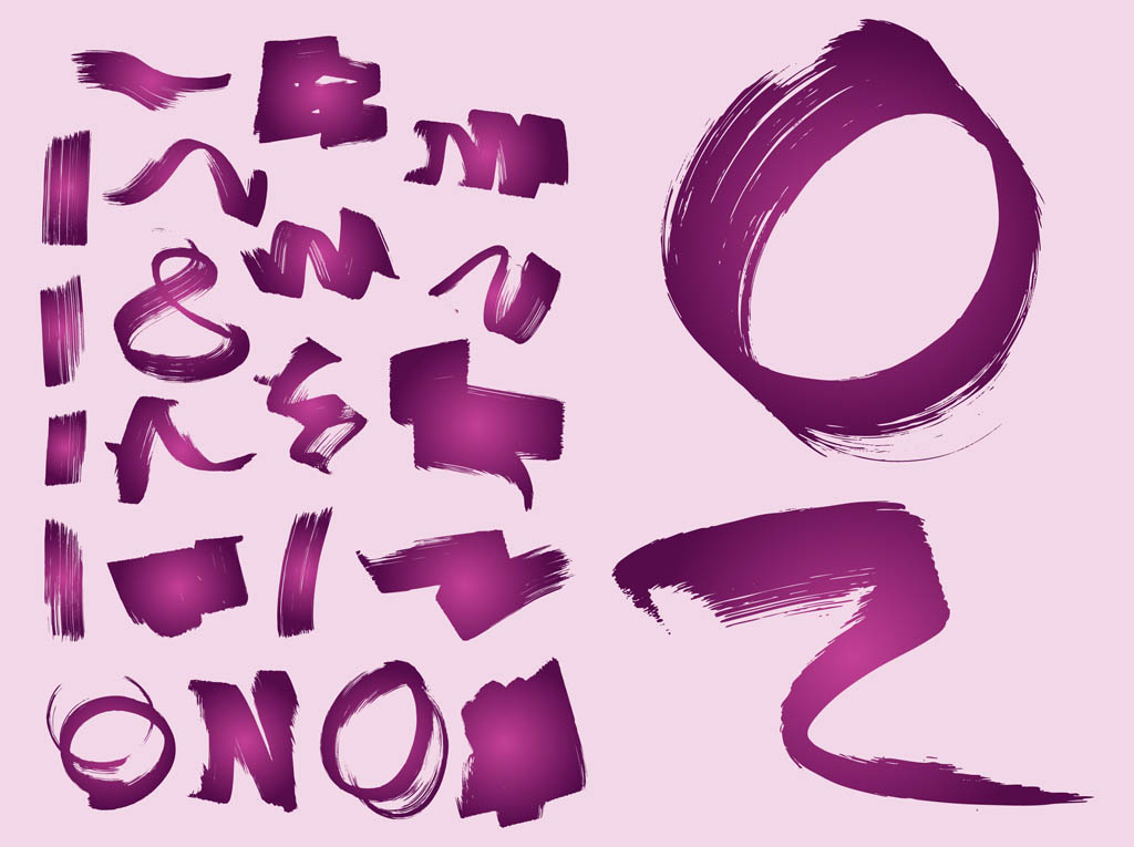 Paint Strokes Vector