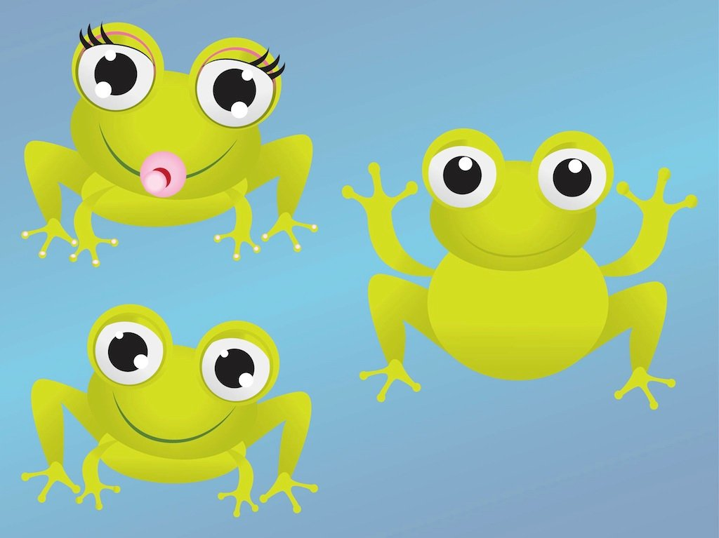 ... baby frog clipart cartoon frog sitting down in a vector clip art