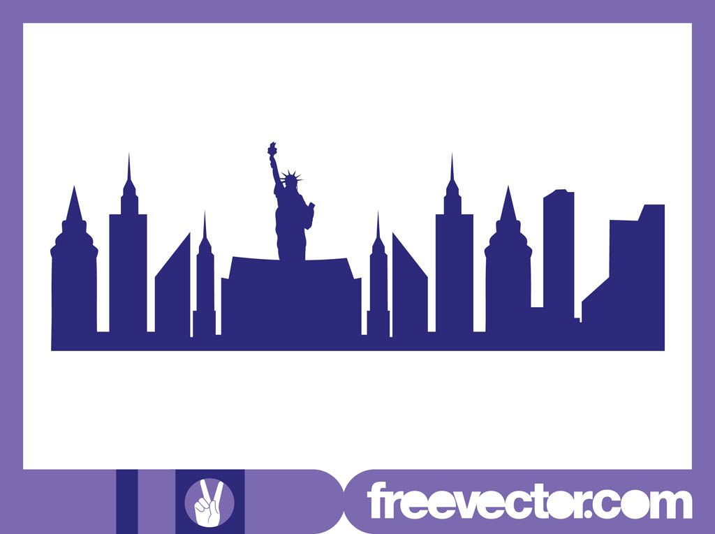 gallery for  gt  new york skyline twin towers silhouette skyline clip art outline free skyline clip art siluotte