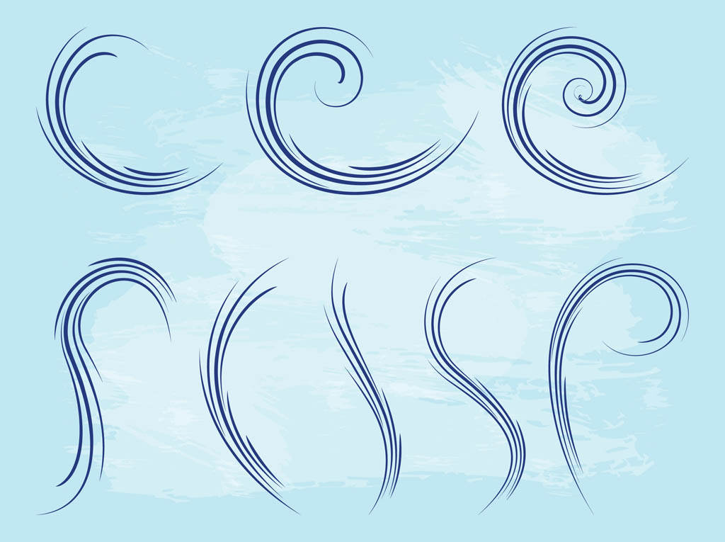 Waving Lines Graphics Set
