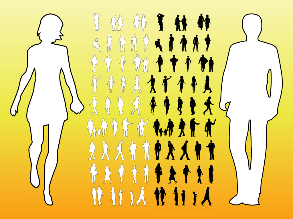People Silhouettes Graphics Vector Art & Graphics ...