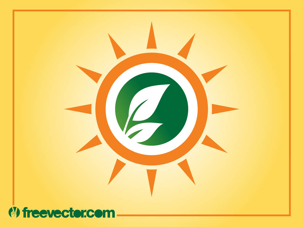 Sun And Leaves Logo