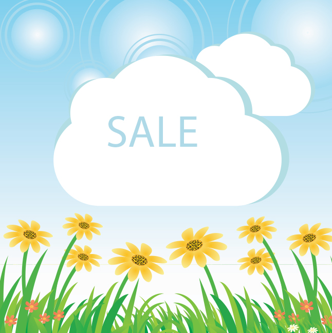 Free Vector Spring Sale Background