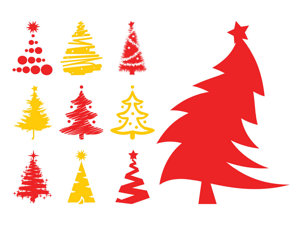 Christmas Tree Silhouette Vector Free Christmas Trees Silhouettes