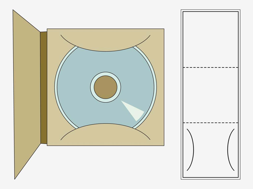 Cd Case Template Vector Art & Graphics | Freevector.Com