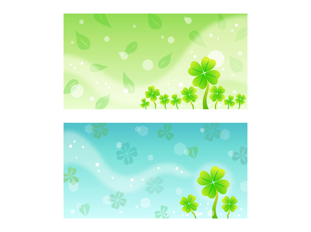 Clover Background Templates