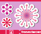 Flower Stickers Set