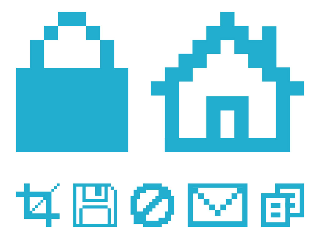 Pixelated Computer Icons