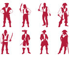 Pirates Silhouettes Set