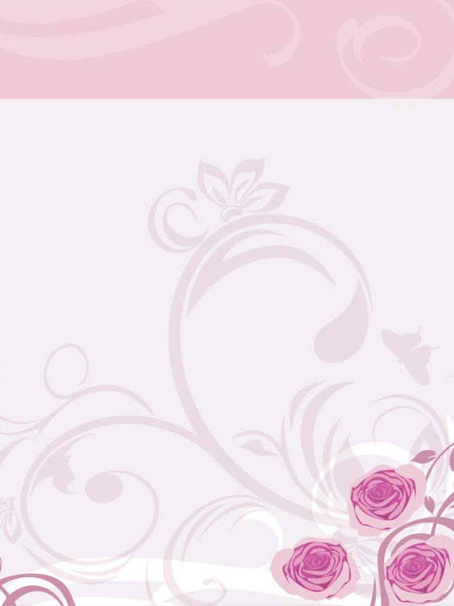 Pink Rose Vector Background