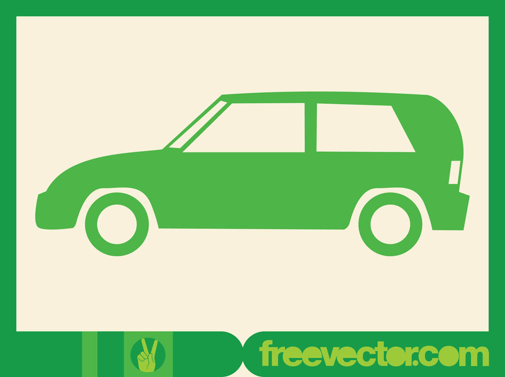 Green Car Icon Green Car Icon