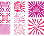 Pink Starburst Patterns