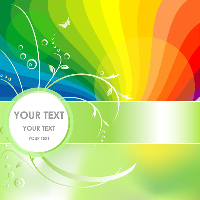Abstract Rainbow Background Vector Two