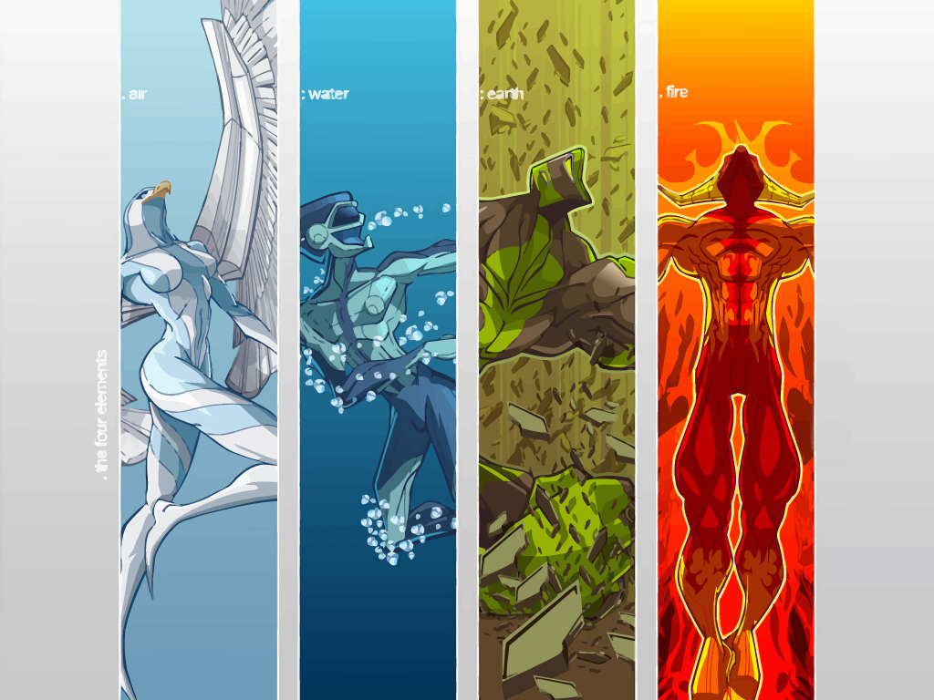 Four Elements by Cris Vector