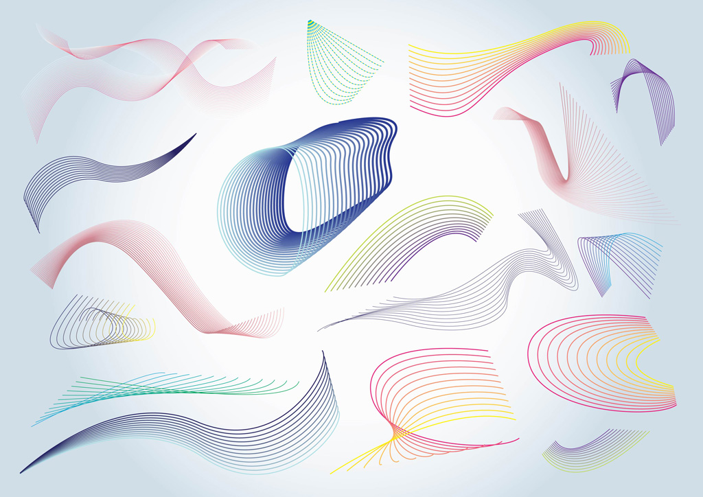 Colorful Vector Spirals