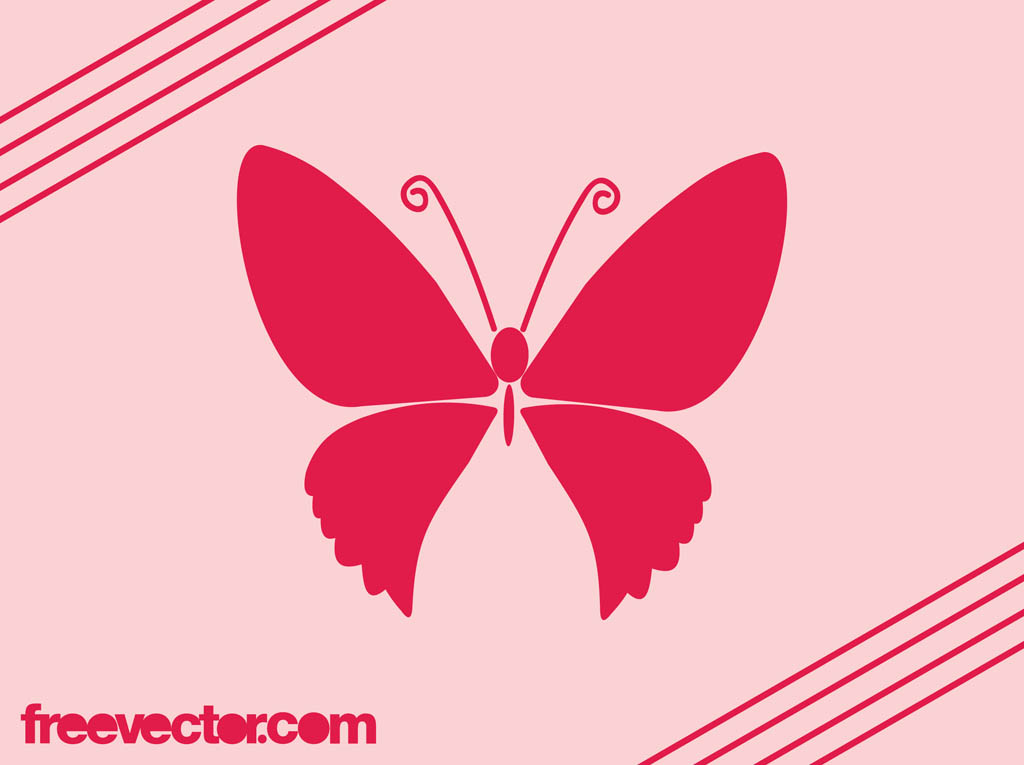 pink butterfly icon vector art graphics freevector com pink butterfly icon vector art