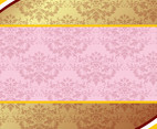 Pink And Gold Background