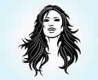 Long Haired Girl Vector