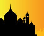 Mosque Silhouette Vector Two