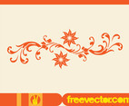 Floral Scroll Vector Element