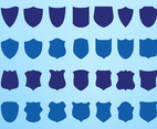 Shield Silhouettes Vector Set