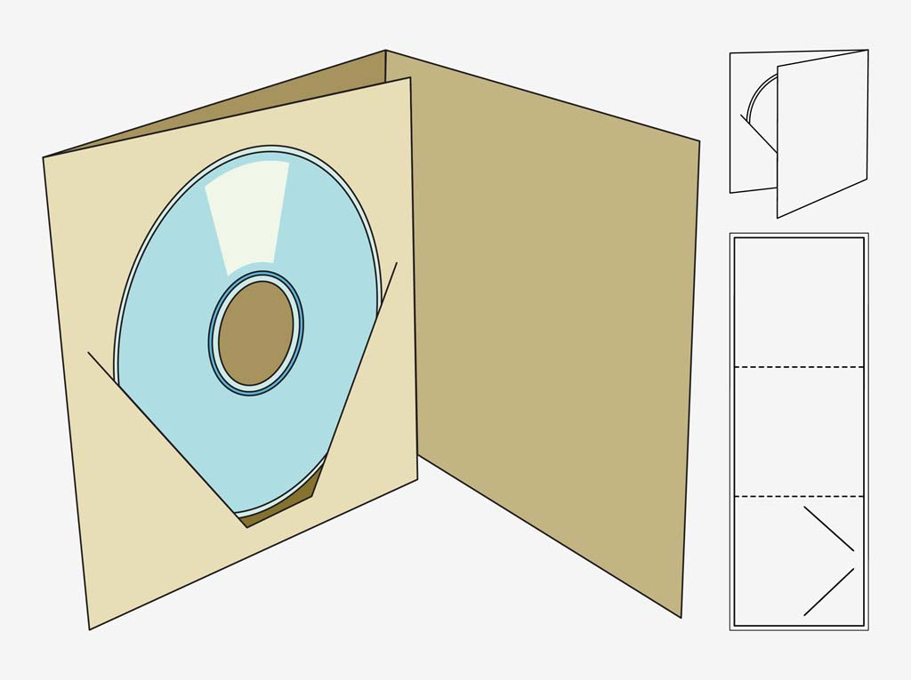 cd box template vector art graphics