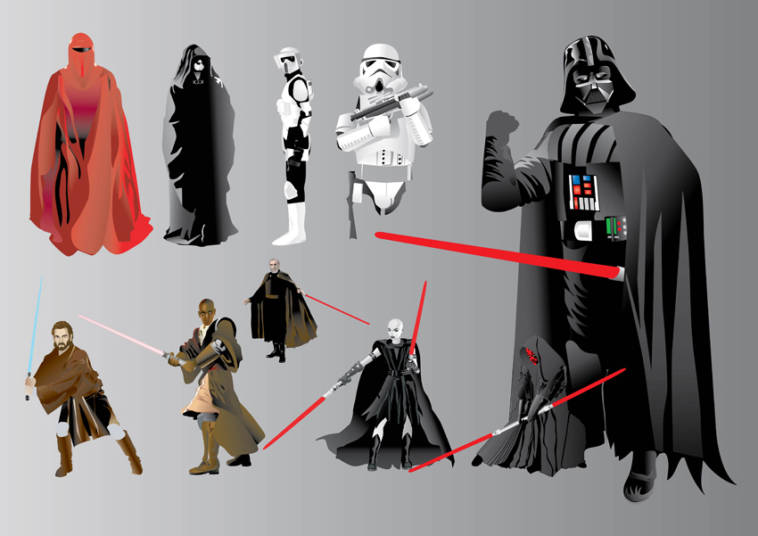 Star Wars Illustrations. Register to comment. Free Vector Categories