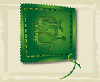 Asian Dragon Stamp