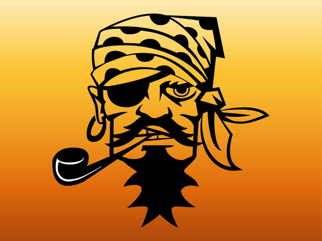 Pirate face vector - photo#7