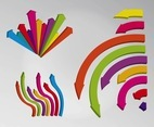Colorful Curved Arrows